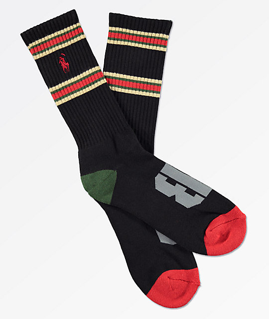 Brooklyn Projects Reaper OG Black Crew Socks