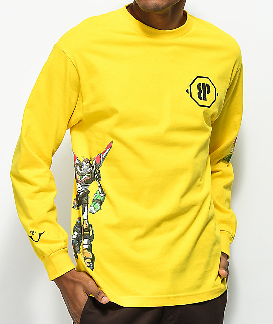 Brooklyn Projects Voltron Defender Hazard Yellow Long Sleeve T-Shirt
