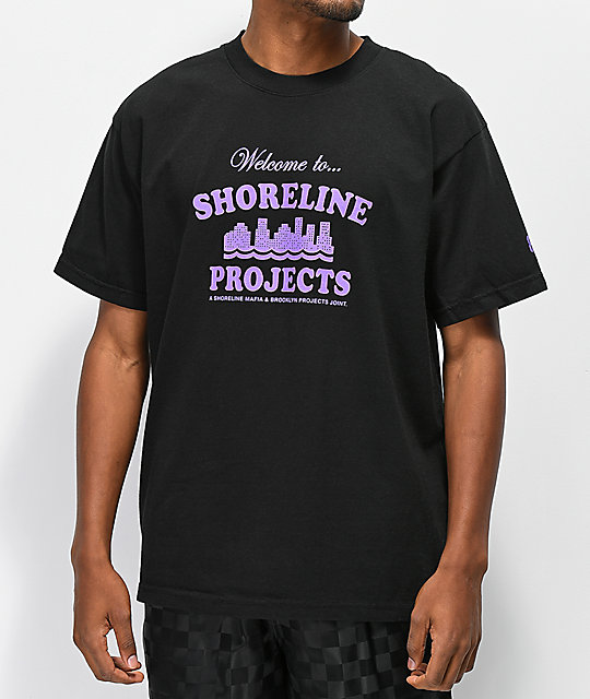Brooklyn Projects x Shoreline Mafia Welcome camiseta negra