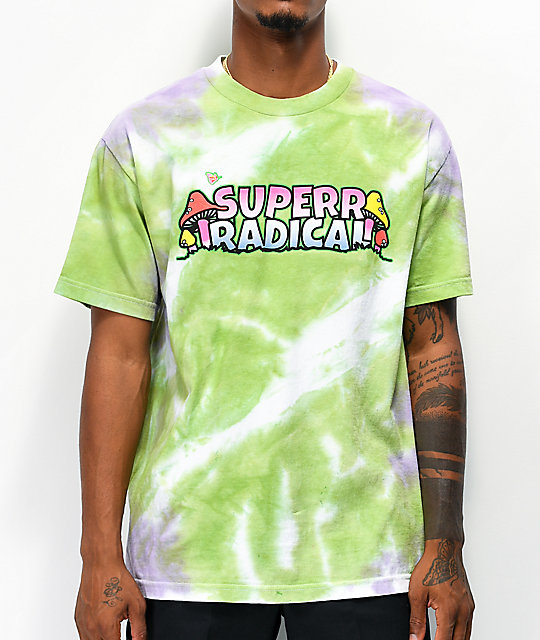 Brooklyn Projects X Superrradical Shrooms Tie Dye T Shirt by Brooklyn Projects
