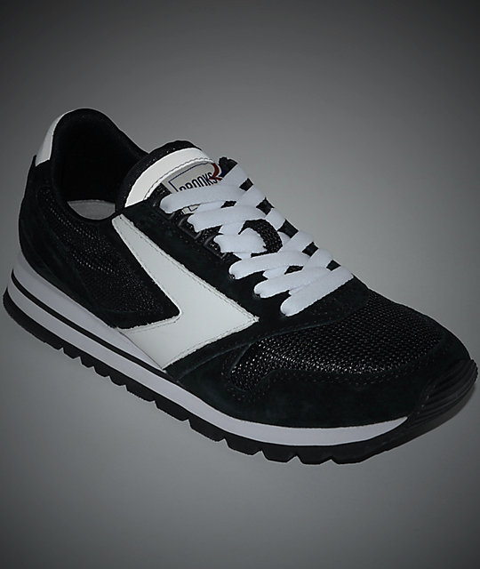 Brooks Chariot Jet Black & White Womens Shoes