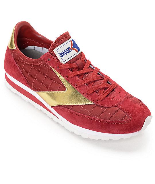 Imperial de en rojo y zapatos mujer Brooks Vanguard dorado fgy76Yvb