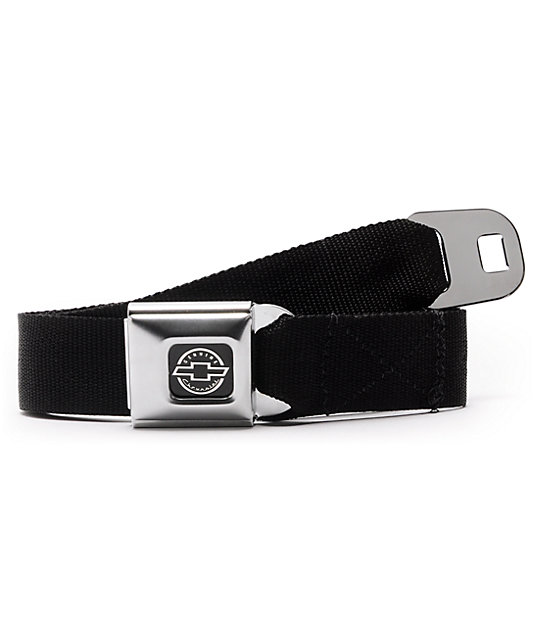 Buckle Down Chevy Black Seatbelt Belt