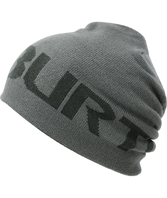 Burton Billboard Grey & Dark Olive Reversible Beanie