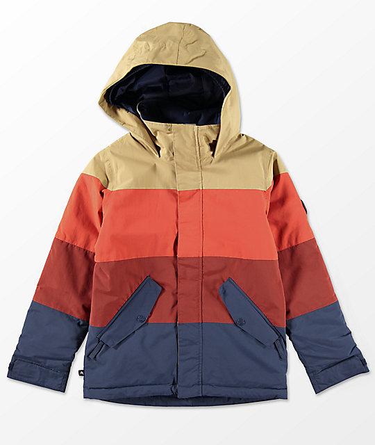 1623dcd63608 Burton Boys Symbol Fired Mood Indigo 10K Snowboard Jacket