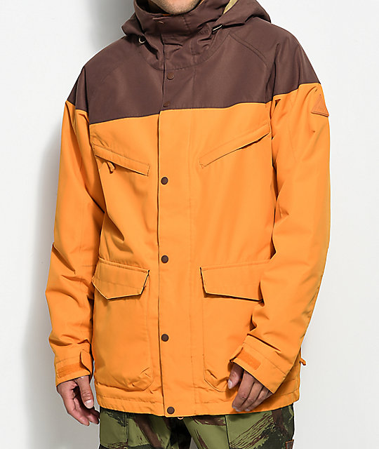 Burton Breach Golden Oak Chestnut 10K Snowboard Jacket