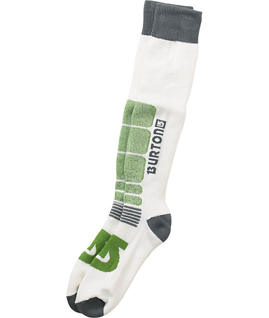 Burton Buffer White Snowboard Socks