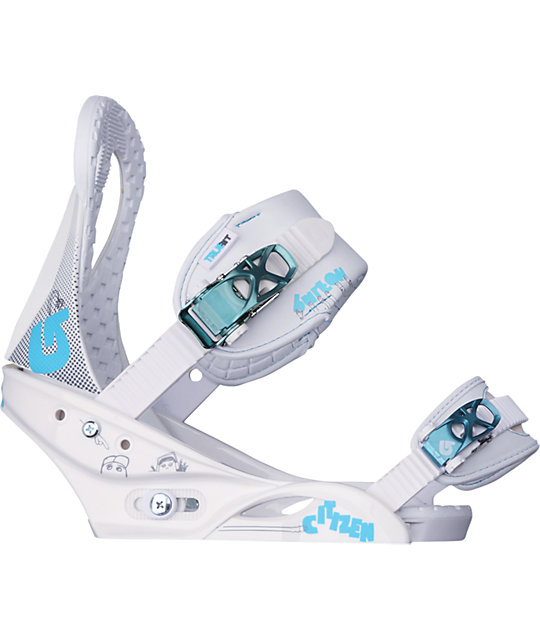 Burton Citizen White Womens Snowboard Bindings