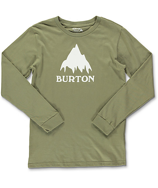 Burton Classic Mountain Olive Boys Long Sleeve T-Shirt