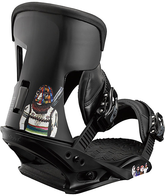 Burton Cobrashark! Black Snowboard Bindings