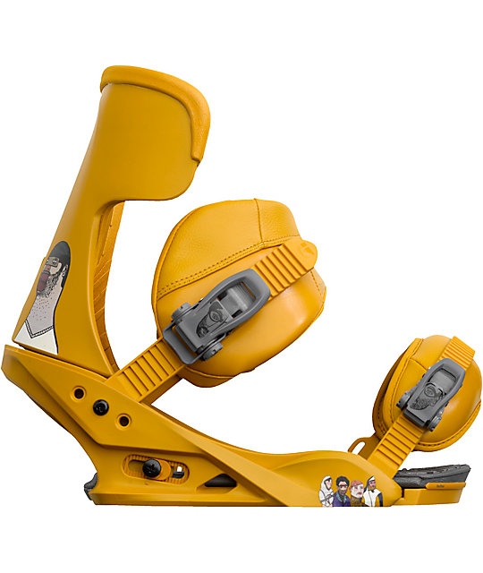 Burton Cobrashark! Yellow Snowboard Bindings