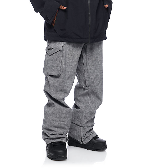 dc678dd53ff0c Burton Covert Bog Heather Grey Snowboard Pants