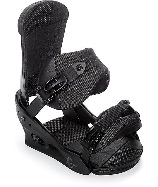 2018 Burton Custom Black Matte Medium Mens Snowboard Bindings