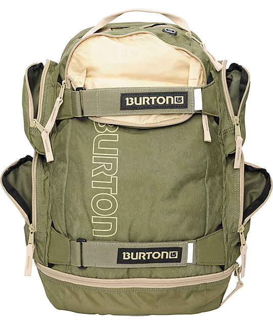 Burton Distortion Green & Tan Skate Backpack