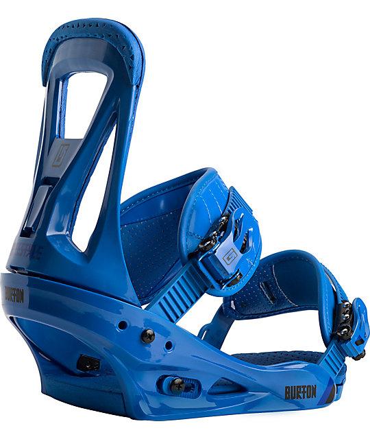 Burton Freestyle Blue Snowboard Bindings