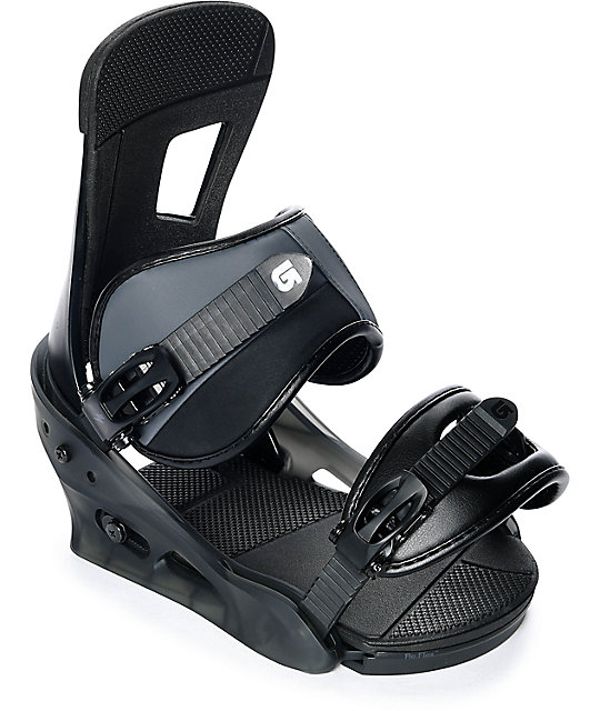 Burton Freestyle Matte Black Snowboard Bindings-2018