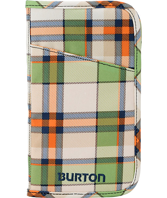 Burton Green & Orange Plaid Travel Case