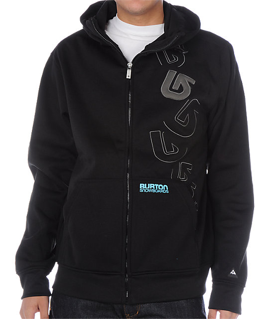 Burton Ludlow Custom Black Tech Fleece Jacket