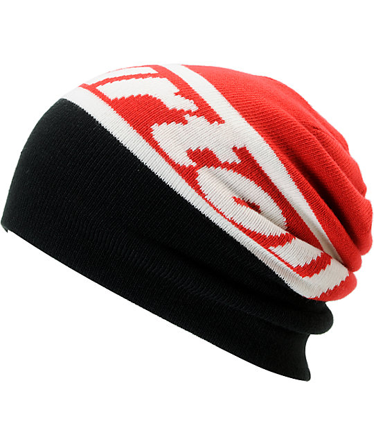 Burton Marquee Red & Black Reversible Beanie
