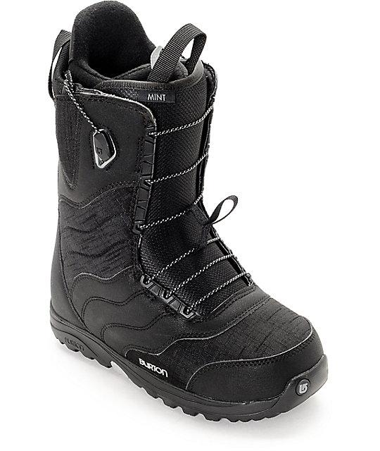 7293c52680 Burton Mint Black Womens Snowboard Boots