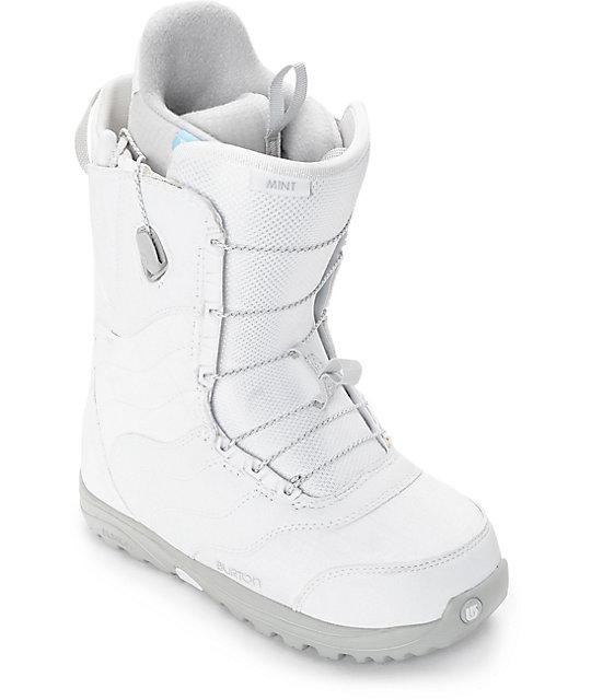 Burton Mint botas blancas de snowboard para mujeres