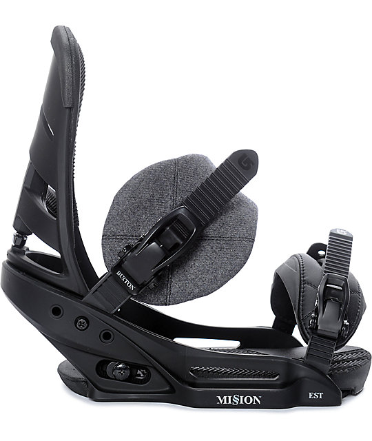Burton Mission EST Black Snowboard Bindings