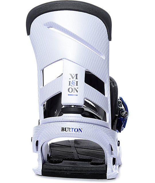 Burton Mission New White Snowboard Bindings