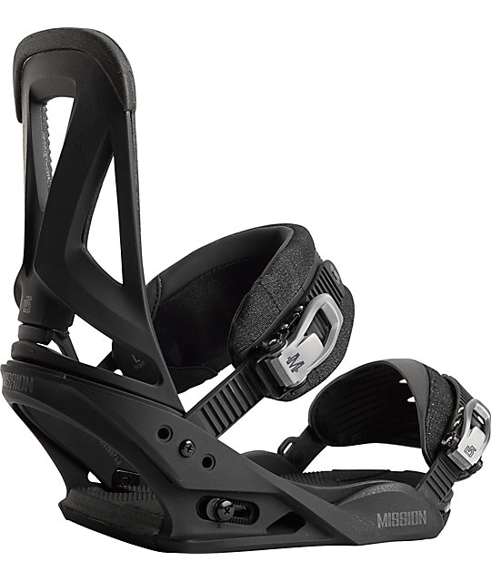 Burton Mission ReFlex Black Snowboard Bindings