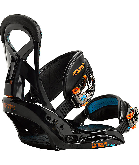 Burton Mission Smalls EST Black 2014 Kids Snowboard Bindings