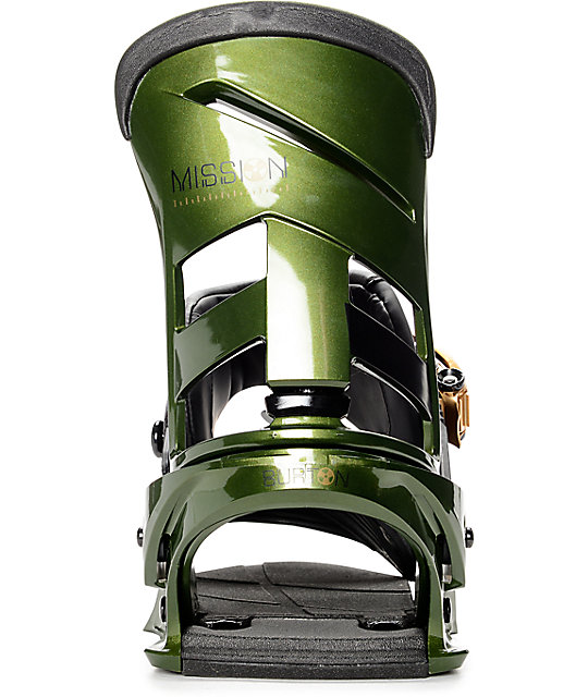 Burton Mission Track Day Green ReFlex Snowboard Bindings