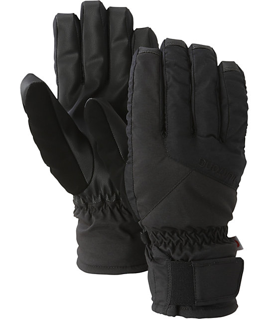 Burton Profile Black Mens Under Gloves