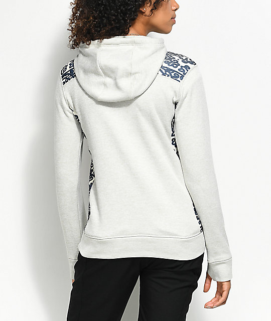 Burton Quartz Tech Fleece Dove Heather Hoodie