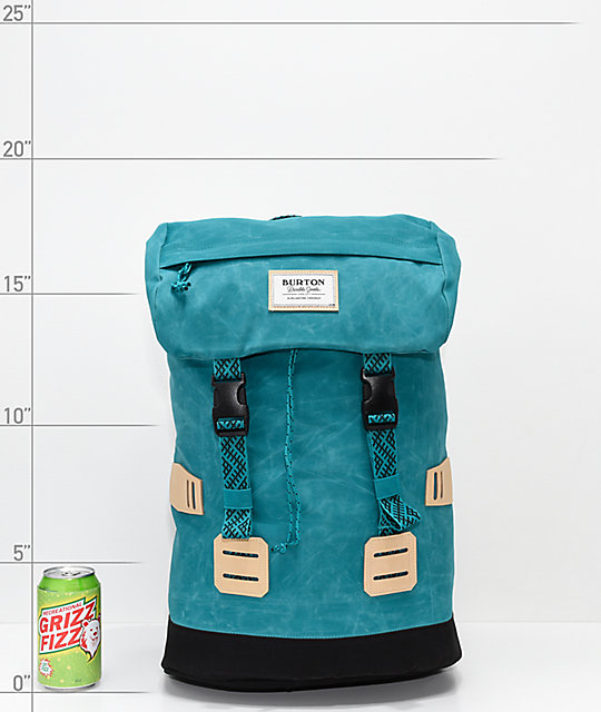 Burton Tinder Fanfare Coated Aqua & Black Backpack