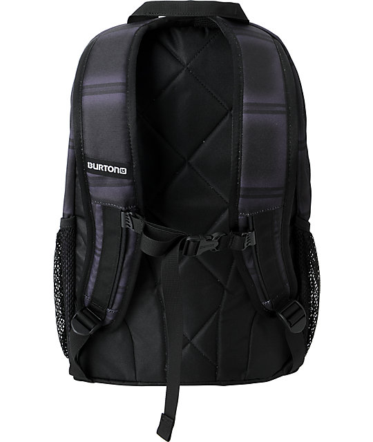 Burton Treble Yell Black Plaid Skate Backpack