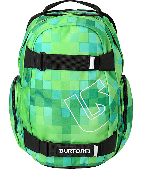 Burton Treble Yell Custom Green Skate Backpack