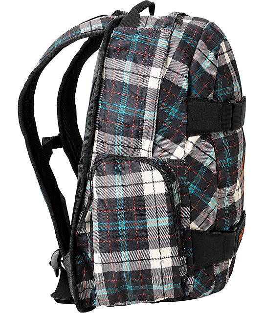 Burton Treble Yell Tartan Plaid Skate Backpack