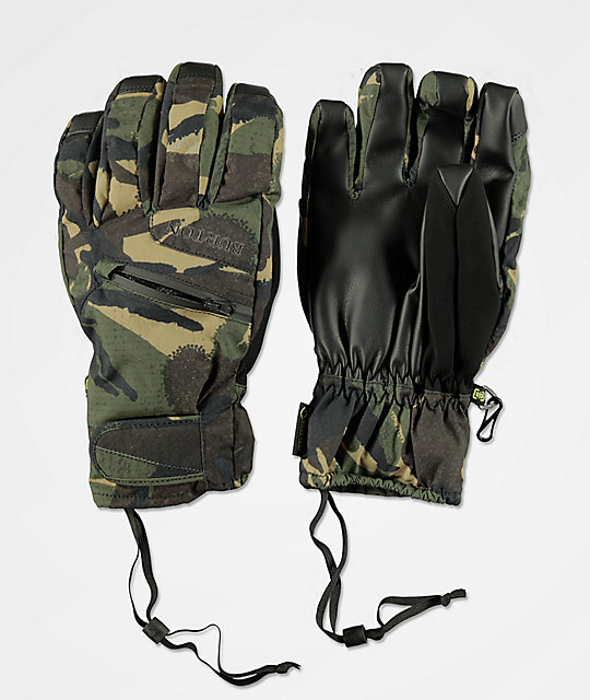 Burton Under Glove Camo Gore-Tex Snowboard Gloves