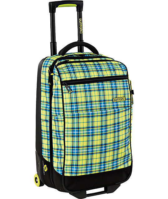 Burton Wheelie Gypsy Plaid 2012 Flight Deck Roller Bag