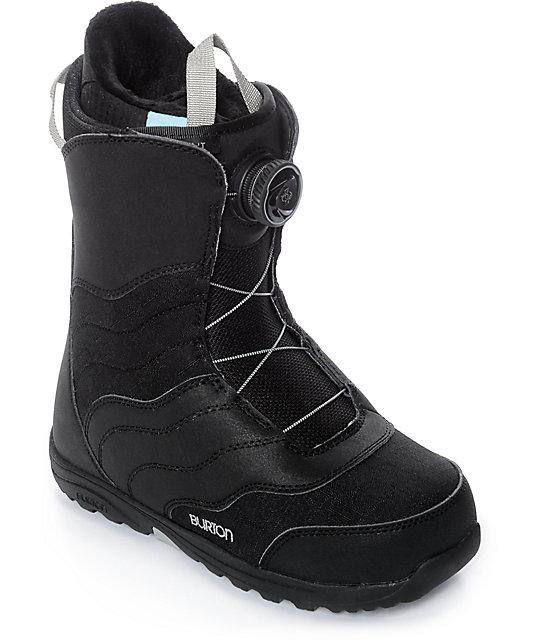 b2d7dc7032 Burton Womens Mint Black Boa Snowboard Boots
