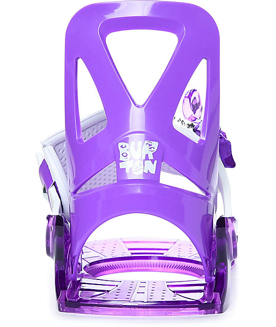 Burton Youth Grom Purple Snowboard Bindings