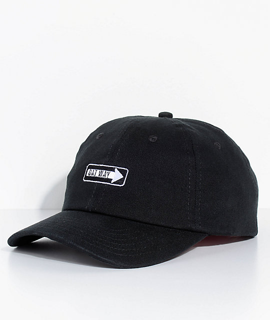 336db7893531f By Any Memes Dat Way One Way Black Dad Hat