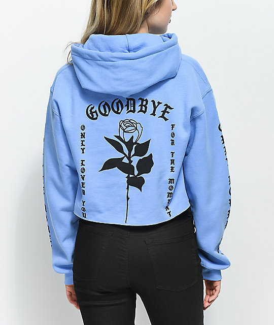 By Samii Ryan Goodbye Blue Crop Hoodie