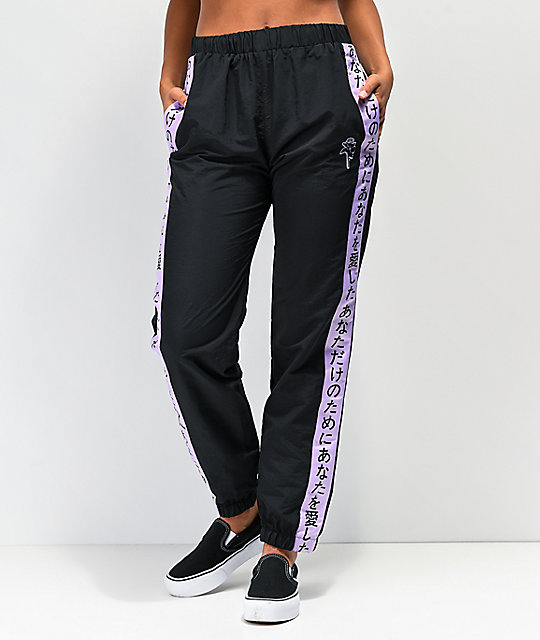 By Samii Ryan Kanji Lust Black Track Pants