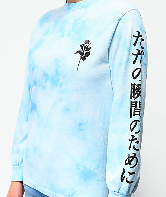 By Samii Ryan Lust Blue Tie Dye Long Sleeve T-Shirt