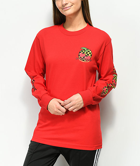 By Samii Ryan Make It Last Red Long Sleeve T-Shirt