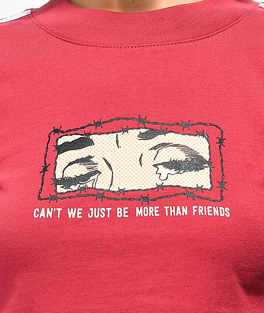 By Samii Ryan More Than Friends camiseta corta roja
