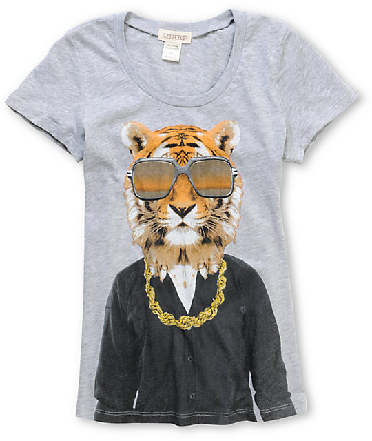 CDC Apparel Gold Rope Tiger Scoop Neck T-Shirt