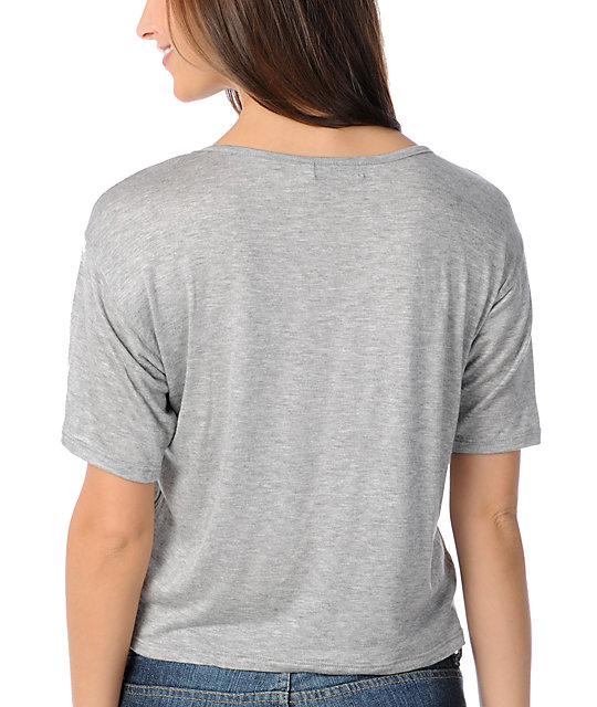 CDC Apparel Tribal Triangles Grey Top