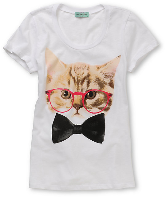 CDC Kitty Glasses White T-Shirt