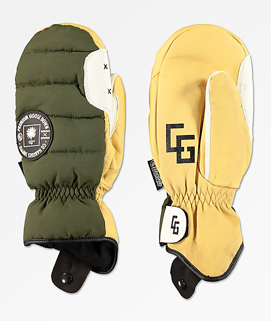 CG Habitats Workmans Military Green Snowboard Mittens